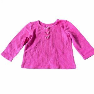 Est 1989 Place Baby Girl Size 12-18m Pink Shirt
